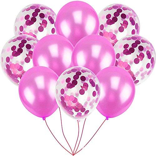 (Folien-Party-Ballons Set Rose Gold Series Hen Party Hochzeit Geburtstagsfeier Drop Shipping # 0615(Rose Rot))