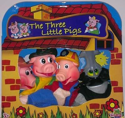 Set 4 Marionetas Los Tres Cerditos