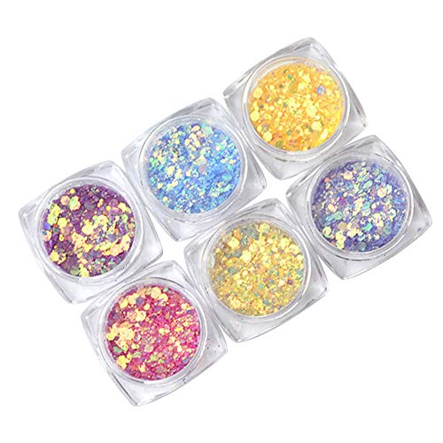 Chiodo Polvere,Zolimx Ottico Chameleon Specchio Polvere Fai Da Te Polvere Nail Art Glitter Cromo Pigmento