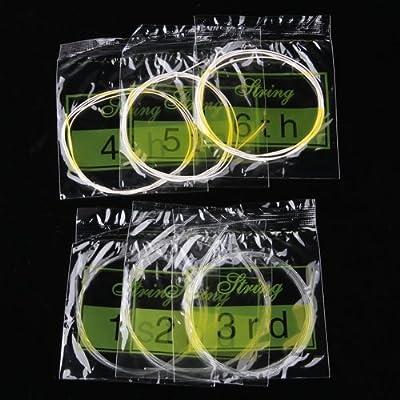 Set 6 Cuerdas de Nylon 100 cm. Largo para Guitarra Clásica / Española Tool Bag de Bsuper mart