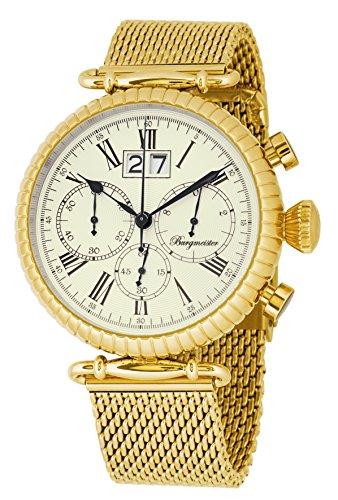 Burgmeister Reloj de caballero de cuarzo (con cronómetro) Paris, BMP02-229