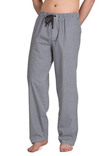 Moonline - Herren Webhose Freizeithose Loungewear aus 100{ca44772625c504ad4b6e6f4014e92dbe3cd342630141b49535f6bd10c97821f0} Baumwolle, Größe:50/52, Farbe:weiß/Navy