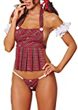 WENHAOYU Womens School Girl Outfits Fancy Dress Cosplay Costumes Mini Dress Bedroom Role Play Lingerie for Women for Sex Skirt Costumes (G)