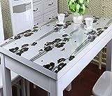 Home Tischdecke PVC-wasserdichte Tischdecke Anti-heiße weiche Glas-Tischdecke Plastik Tischdecke-Tischauflage-Auflage-transparente wolkige Kristall-Platte ( größe : 70*130cm )