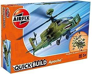 Airfix- Apache Helicóptero de Juguete,, 252 x 189 x 82 cm (Hornby Hobbies 2019 AIJ6004)