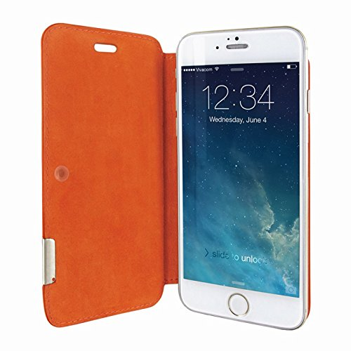 Piel Frama 677SWB PIELFRAMA 677SWB Swaro Case für Apple iPhone 6 in blau Naranja (Crocodile orange)
