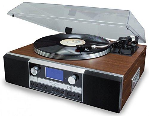 Soundmaster PL905 - Plattenspieler (Braun, 33,45,78 RPM, 33,45,78 RPM, Drehregler, FM,PLL, China)