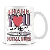 Tazza di caffè, dentale infermiera grazie regalo personalizzato in ceramica Coffee Cup, 311,8gram, bianco