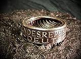 Coinring, Münzring, Ring aus Münze (1958 Heiermann - Silberadler - 5 Mark), 625er Silber - Double Sided coin ring - verschiedene Größen, Ihr handgeschmiedetes Unikat