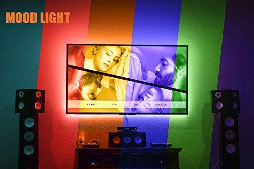 Tv led posteriore di illuminazione kit 200cm 5v striscia usb rgb