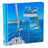 WELLGRO® Jumbo Fotoalbum BEACHES - für bis zu 400 Fotos 10x15 - 30 x 30 cm (HxB) - 100 Seiten , Motive:Boot