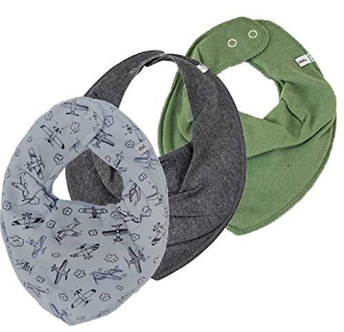 et Baby Halstücher Dreieckstücher verschiedene Designs (Flieger auf lichtgrau/anthrazit/olivgrün) ()
