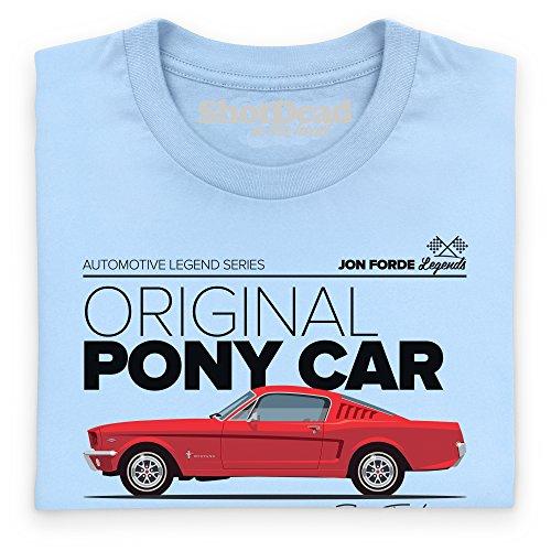 Jon Forde Original Pony Car T-Shirt, Herren Himmelblau