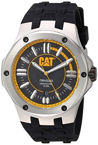 CAT A1.141.21.127 - Orologio da polso, uomo, caucciú, colore: nero