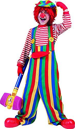 Imagen de erdbeerclown–multicolor niños peto con divertidos botones de rayas disfraz de payaso, 116–170, 6–15años, multicolor