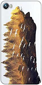 Snoogg forest in a silhouette 2631 Designer Protective Back Case Cover For Micromax Canvas Fire 4 A107