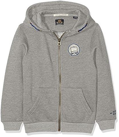 Scotch & Soda Shrunk Jungen Ams Blauw Zip Through Sweat-Jacke, Grau (Grey Melange 60), 176 (Herstellergröße: