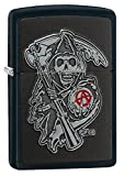 Zippo - Mechero con Emblema de SOA Regular, Color Negro Mate, Talla única