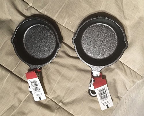 2 Lodge LMS3 3.5 inch Cast Iron Mini Skillet / Spoon Rest / Ashtray Pre-Seasoned by NEW Cast Iron Spoon Rest
