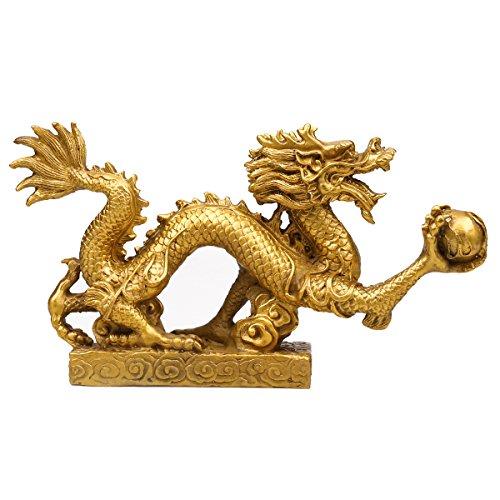 Feng Shui Drache Glück & Erfolg/Feng Shui Waren Messing Drache Statue Skulptur
