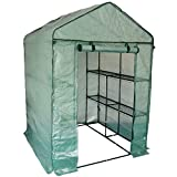 Harbour Housewares Invernadero con 8 estantes en 2 niveles para vegetales, frutas y plantas, con cubierta reforzada