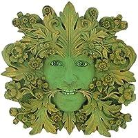 Green Mistress Green Woman, Greenman Decorative Garden Wall Plaque. 12cm from Fiesta Studios