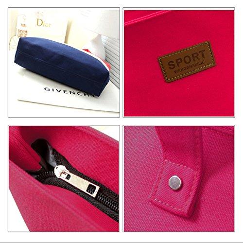 LA HAUTE , Damen Tote-Tasche, grau (Grau) - LHTE-299 Rot (Rose Red)