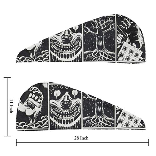 Imagen de hair drying towels halloween swag animal skull wrap turban bath shower head towel quick magic dryer hat for daughter absorbent quickly cap anti frizz for curly hands free hair alternativa