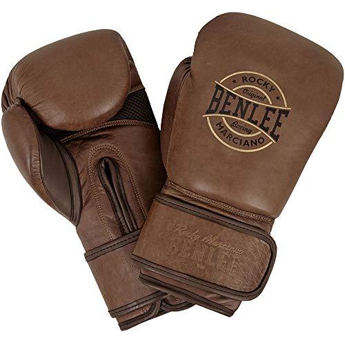 BENLEE Rocky Marciano Unisex- Erwachsene BARBELLO Leather Boxing Gloves, Vintage Brown, 12 oz
