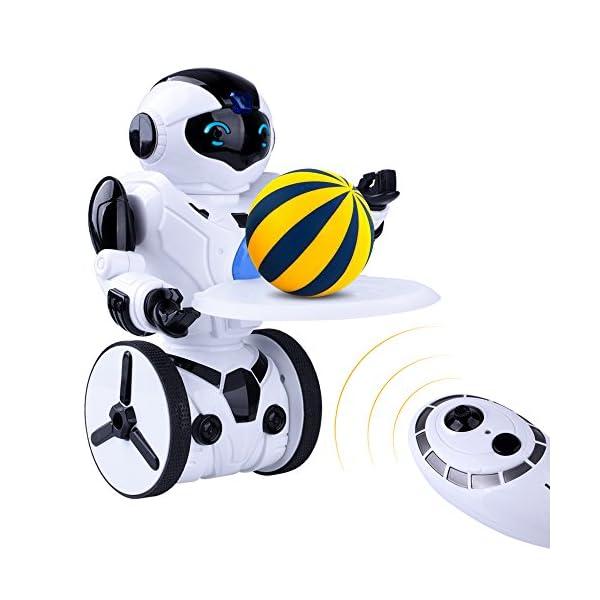 512%2BuSpaI%2BL. SS600  - Kuman Robot Multifuncional de Control Remoto para Niños 2,4 GHz, Mini Robot Electrónico, 5 Modos de Funcionamiento, Baile, Boxeo, Conducir, Cargar, Detección de Gestos, Súper divertido Robot RC 1016A