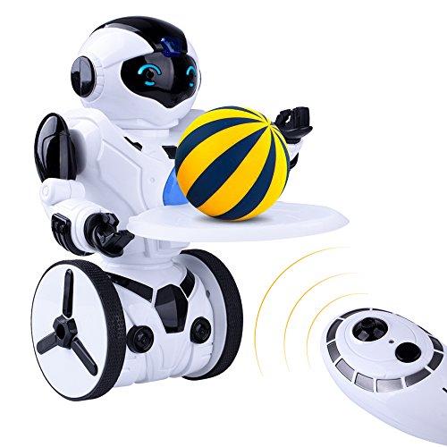 512%2BuSpaI%2BL - Kuman Robot Multifuncional de Control Remoto para Niños 2,4 GHz, Mini Robot Electrónico, 5 Modos de Funcionamiento, Baile, Boxeo, Conducir, Cargar, Detección de Gestos, Súper divertido Robot RC 1016A