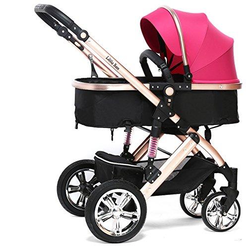 Carruajes de bebé, se puede sentar en carritos, los carros de los niños de verano, luz plegable cochecito de bebé ( Color : Pink )