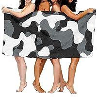 544456ffde Black Camo Beach Towels Ultra Absorbent Microfiber Bath Towel Picnic Mat For Men Women Kids