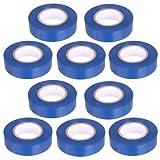 10 Stück PVC Isolierband Klebeband 10 Meter lang 15 mm breit -blau-