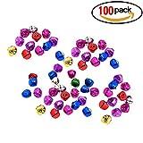 100 PCS Petites Clochettes Grelots en Métal Jingle Bells pour Noël/Décoration - Multicolore