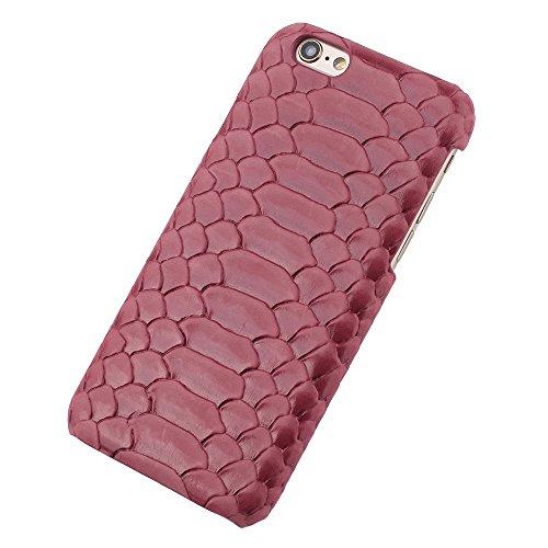iPhone 6 Plus (5.5 inch) Coque,EVERGREENBUYING en Fibre de Carbone [Snake Pattern] IPHONE 6+/6S+ Cases Housse Etui Shock-Absorption Bumper et Anti-Scratch Back pour iPhone 6 Plus / 6s Plus Rose Rose