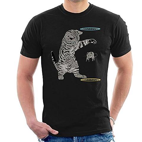 Portal Cat Get That Mouse Men's T-Shirt