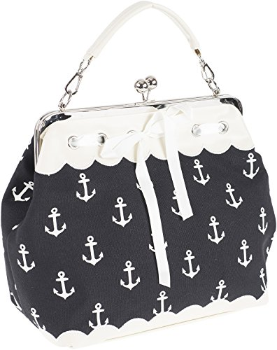 Küstenluder DALENE Sailor Anchor ANKER Kisslock Pin Up Handtasche Rockabilly -