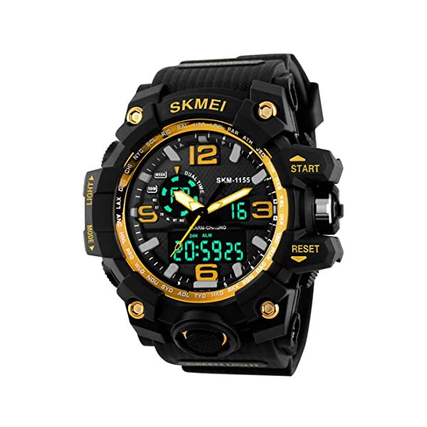 Addic Analogue-Digital Gold Dial Men's & Boy's Watch - Skmeimw40