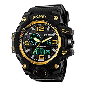 Skmei Analogue-Digital Black Dial Men's Watch - Skmeimw40