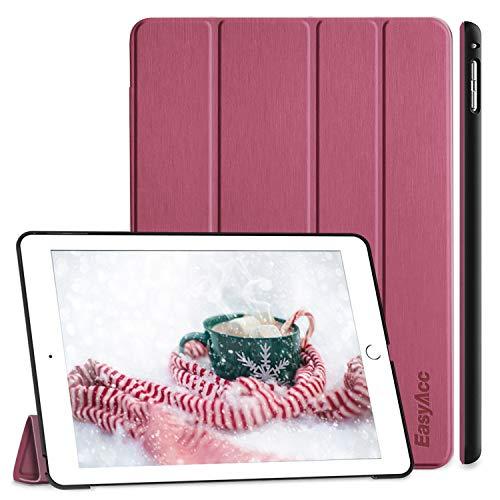 EasyAcc Hülle für iPad Air 2, Ultra Slim Cover Schutzhülle PU Lederhülle mit Standfunktion/Auto Sleep Wake Up Funktion Kompatibel für iPad Air 2 2014 Modell Number A1566/A1567 -Zwetschgen Purpur
