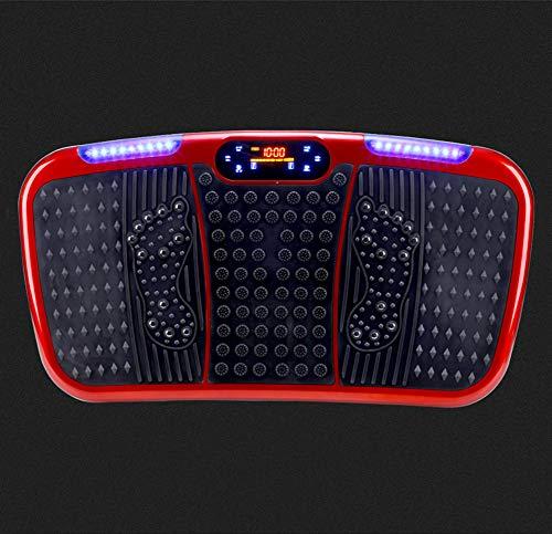 YUHT Vibration Plate Home, Dünne Vibrationsplatte, Fitness-vibrationsplatte, Oszillierende Plattform, Fitnessgeräte, Power-fitnessgerät, Wackelbrett, red