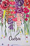 Ciera: Personalized Lined Journal - Colorful Floral Waterfall (Customized Name Gifts)