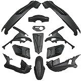 Gilera Runner 50125180Trim Juego completo de revestimiento, 12unidades), color negro mate