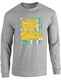 Pop Threads Lost In Space Dots Retro Pattern Long Sleeve T-Shirt by