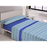 Juego sábanas térmica ALICIA Libela. Cama de 105 cm. Color Azul