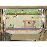 Tokkids - Parasol infantil para la ventanilla lateral del coche, protege a tu Bebé de los Rayos Ultravioletas dañinos del Sol - Dibujo Oso