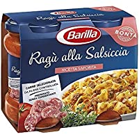 2x Barilla Ragù Tomato Sauce with Sausage for Pasta (2x 180g) Ready to Eat!