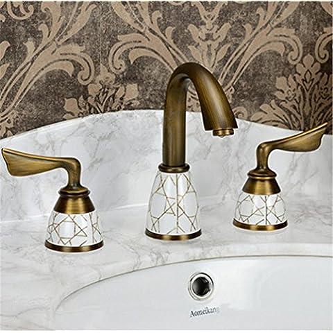 modylee Luxury 3Piece Set Rubinetto Bagno Vasca Rubinetto Lavello Rubinetto Miscelatore Monocomando Rubinetto Miscelatore con finitura oro ys-618K rubinetto, 2