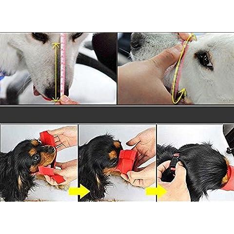 Vultera (TM) Hot nuovo cucciolo Pet nylon mascherina materiale regolabile anti corteccia morso morbido tulle museruola Grooming Chew arresto per il piccolo grande cane